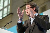 """19 NOV 2018, BERLIN/GERMANY:<br /> Andreas Scheuer, CSU, Bundesminister fuer Verkehr und digitale Infrastruktur, F.A.Z. Konferenz """"Mobilitaet in Deutschland - Zeit fuer neues Denken und Handeln"""", F.A.Z. Atrium<br /> IMAGE: 20181119-01-080<br /> KEYWORDS: F.A.Z."""