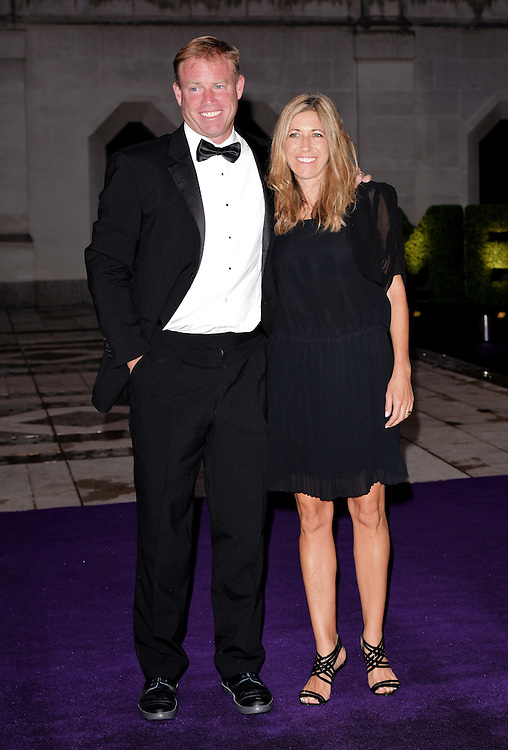 Mark Petchey and Michelle Petchey attend the 2015  Wimbledon Champions Dinner at The Guildhall, Gresham Street, London on Sunday 12 July 2015