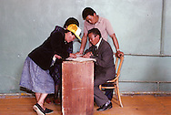 Mongolia. 1991 the first democratic Election  in Gatchurt kolkhoz.