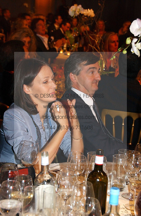 LUCY FERRY and ROBIN BIRLEY at the Fortune Forum Dinner held at Old Billingsgate, 1 Old Billingsgate Walk, 16 Lower Thames Street, London EC3R 6DX<br /><br />NON EXCLUSIVE - WORLD RIGHTS