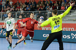 Cip Tomas of Czech Republic during handball match between National teams of Germany and Czech Republic on Day 2 in Main Round of Men's EHF EURO 2018, on January 19, 2018 in Arena Varazdin, Varazdin, Croatia. Photo by Mario Horvat / Sportida