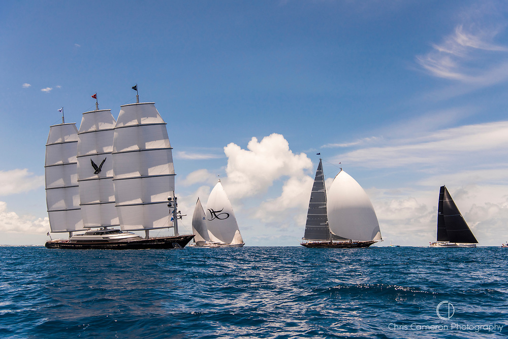 Bermuda, 13th June 2017. America's Cup Superyacht regatta. Race one.