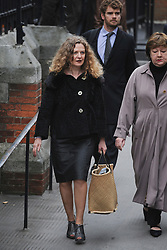 © London News Pictures. 21/11/2011. London, UK.  Writer Joan Smith (left) arriving at The Royal Courts of Justice today (21/11/2011) to give evidence at the Leveson Inquiry into press standards. The inquiry is being lead by Lord Justice Leveson and is looking into the culture, and practice of the UK press. The Leveson inquiry, which may take a year or more to complete, comes after The News of The World Newspaper was closed following a phone hacking scandal. Photo credit : Ben Cawthra/LNP