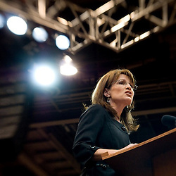 Oct. 21, 2008 - Reno, Nevada, USA - U.S. Republican Vice Presidential candidate Governor Sarah Palin (R-Ala.) during a campaign rally at the Reno-Sparks Convention Center in Reno, Nev., Tuesday, Oct. 21, 2008. (Credit Image: © David Calvert/ZUMA Press)