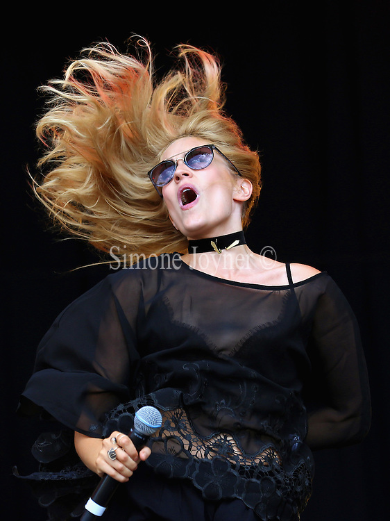 LONDON, ENGLAND - JULY 17:  Rachel Wilkinson of Ivy and Gold performs live on the main stage during day one of Lovebox Festival 2015 at Victoria Park on July 17, 2015 in London, England.  (Photo by Simone Joyner/WireImage)