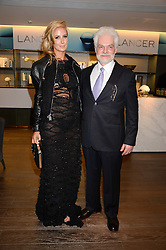 LADY VICTORIA HERVEY and DR HAROLD LANCER at a reception to launch the range of Dr Lancer beauty products held at The Penthouse, Harrods, Knightsbridge, London on 16th September 2013.