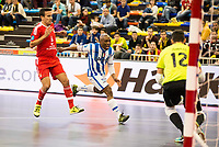 Benfica's Wilhelm and Pescara's Leggiero during UEFA Futsal Cup 2015/2016 3º/4º place match. April 22,2016. (ALTERPHOTOS/Acero)