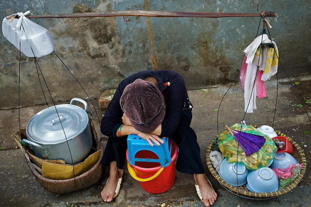 Street vendor, Hanoi, Vietnam.