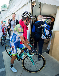 Primoz Roglic of Slovenia going to mix zone after the Men Elite Road Race a 258.5km Race from Kufstein to Innsbruck 582m at the 91st UCI Road World Championships 2018 / RR / RWC / on September 30, 2018 in Innsbruck, Austria. Photo by Vid Ponikvar / Sportida