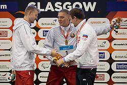 ZIMIN Mikhail, BOKI Ihar, IZOTAU Uladzimir RUS, BLR at 2015 IPC Swimming World Championships -  Men's 100m Breaststroke SB13