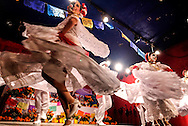 Dancers perform Mexican traditional dances during the Day of the Dead celebrations in Los Angeles on Monday, Nov. 1, 2016.(Photo by Ringo Chiu/PHOTOFORMULA.com)<br /> <br /> Usage Notes: This content is intended for editorial use only. For other uses, additional clearances may be required.