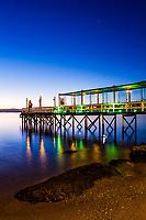 Deck do Restaurante Ostradamus no Ribeirão da Ilha. Florianópolis, Santa Catarina, Brasil. / DEck of Ostradamus Restaurant at Ribeirao da Ilha district. Florianopolis, Santa Catarina, Brazil.