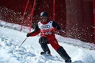 """Schladming, Austria - 2017 March 21: Stefan Birnbacher from Germany (146) competes in Alpine Skiing Competition while Special Olympics World Winter Games Austria 2017 on the """"Sepp-Walcher-Downhill"""" (Slope 32) near the """"Tauernalm"""" in Rohrmoos on March 21, 2017 in Schladming, Austria.<br /> <br /> Mandatory credit:<br /> Photo by © Adam Nurkiewicz / Mediasport<br /> <br /> Adam Nurkiewicz declares that he has no rights to the image of people at the photographs of his authorship.<br /> <br /> Picture also available in RAW (NEF) or TIFF format on special request.<br /> <br /> Any editorial, commercial or promotional use requires written permission from the author of image.<br /> <br /> Image can be used in the press when the method of use and the signature does not hurt people on the picture."""
