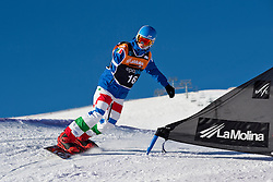 PRIOLO Paolo, Banked Slalom, 2015 IPC Snowboarding World Championships, La Molina, Spain