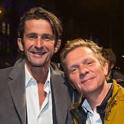 NLD/Amsterdam/20140307 - Boekenbal 2014, Cornald Maas en Michiel van Erp