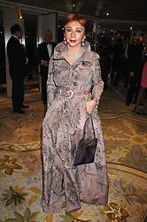 Wealthy Greek MRS PANAGIOTIS LEMOS at the Chain of Hope Ball held at The Dorchester, Park Lane, London on 4th February 2008.<br />