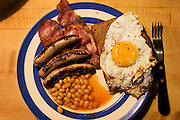 English Breakfast prepared by Francis Achache at his father Philippe Achache's house on Tite St. in London, UK.