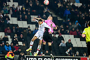 Northampton Town Defender Ryan Cresswell  during the The FA Cup Third Round Replay match between Milton Keynes Dons and Northampton Town at stadium:mk, Milton Keynes, England on 19 January 2016. Photo by Dennis Goodwin.