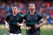 Sergio Ramos from Spain of Real Madrid during the Spanish championship La Liga football match between FC Barcelona and Real Madrid on May 6, 2018 at Camp Nou stadium in Barcelona, Spain - Photo Andres Garcia / Spain ProSportsImages / DPPI / ProSportsImages / DPPI
