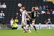 MK Dons defender Jordan Spence during the Sky Bet Championship match between Milton Keynes Dons and Nottingham Forest at stadium:mk, Milton Keynes, England on 7 May 2016. Photo by Dennis Goodwin.