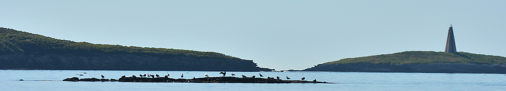 EAGLE ISLAND, Maine -- June 23, 2014 -- Mark Island - Casco Bay Maine as seen from Eagle Island. Photo © Roger S. Duncan 2014.
