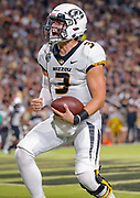 WEST LAFAYETTE, IN - SEPTEMBER 15: Drew Lock #3 of the Missouri Tigers celebrates a touchdown during the game against the Purdue Boilermakers at Ross-Ade Stadium on September 15, 2018 in West Lafayette, Indiana. (Photo by Michael Hickey/Getty Images) *** Local Caption *** Drew Lock NCAA Football - Purdue Boilermakers vs Missouri Tigers at Ross-Ade Stadium in West Lafayette, Indiana. Sports photographer by Michael Hickey