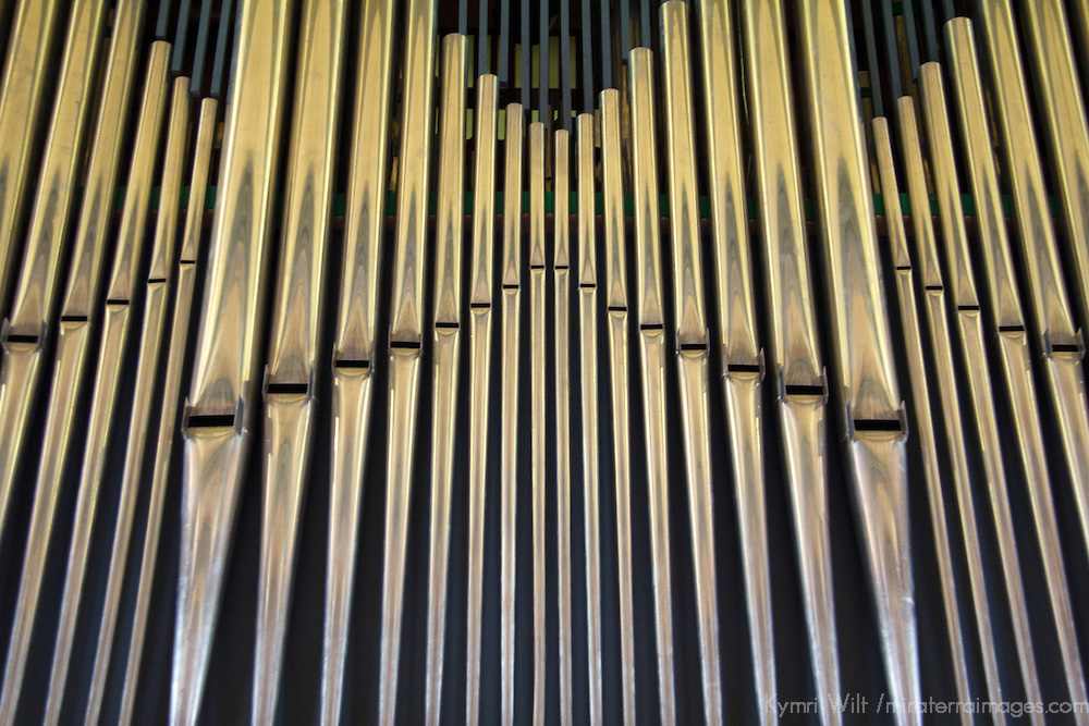 Europe, Norway, Flam. Flam Church Organ Pipes.