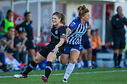 Maren Mjelde (Chelsea) & Fliss Gibbons (Brighton) during the FA Women's Super League match between Brighton and Hove Albion Women and Chelsea at The People's Pension Stadium, Crawley, England on 15 September 2019.