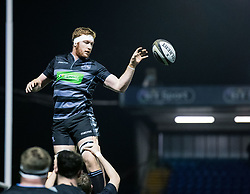 Rob Harley of Glasgow Warriors during the pre match warm up<br /> <br /> Photographer Simon King/Replay Images<br /> <br /> Guinness PRO14 Round 15 - Cardiff Blues v Glasgow Warriors - Saturday 16th February 2019 - Cardiff Arms Park - Cardiff<br /> <br /> World Copyright © Replay Images . All rights reserved. info@replayimages.co.uk - http://replayimages.co.uk