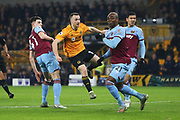 Jonny shoots at goal during the Premier League match between Wolverhampton Wanderers and West Ham United at Molineux, Wolverhampton, England on 4 December 2019.