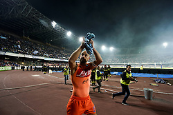 October 21, 2017 - Napoli, Napoli, Italy - Naples - Italy 21/10/2017.JOSE' REINA during Serie A  match between S.S.C. NAPOLI and INTER  at Stadio San Paolo of Naples. (Credit Image: © Emanuele Sessa/Pacific Press via ZUMA Wire)