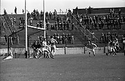 26/05/1968<br /> 05/26/1968<br /> 26 May 1968<br /> National Hurling League Final: Kerry v Antrim at Croke Park, Dublin.<br /> Near the Antrim goalmouth.