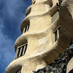 Gaudi ,Barcelona ,Casa Mila also known as La Pedrera , Spain