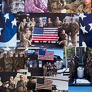 May 12, 2017 - New York, NY : Syed Ali, who is a combat veteran with the United States Army and an officer with the New York Police Department, was detained at John F. Kenney Airport earlier this year when he returned from vacation overseas after his most recent deployment -- this despite having his Military ID and US Passport. Pictured here, a collage of photographs depict Syed on a tour in Afghanistan.   CREDIT: PHOTOGRAPHS COURTESY SYED ALI -- REPHOTOGRAPHED BY Karsten Moran for The New York Times