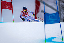 PYEONGCHANG-GUN, SOUTH KOREA - FEBRUARY 18: Tommy Ford of the United States competes during the Alpine Skiing Men's Giant Slalom at Yongpyong Alpine Centre on February 18, 2018 in Pyeongchang-gun, South Korea.Photo by Ronald Hoogendoorn / Sportida