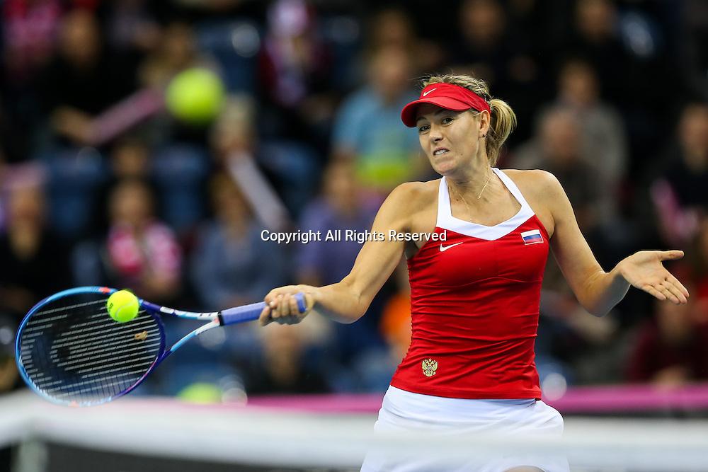 07.02.2015. Krakow, Poland, Fed Cip international tennis tournement, Poland versus Russia.  Maria Sharapova (RUS)