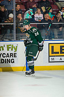 KELOWNA, BC - FEBRUARY 15: Gianni Fairbrother #24 of the Everett Silvertips celebrates a goal against the Kelowna Rockets  at Prospera Place on February 15, 2019 in Kelowna, Canada. (Photo by Marissa Baecker/Getty Images)