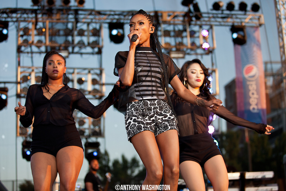 Brandy performs at the African American Festival on Sunday, June 22, 2014 in Baltimore, MD.