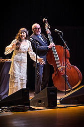 © Licensed to London News Pictures . 29/05/2014 . Manchester , UK . Judith Durham and Athol Guy . The Seekers perform at the Bridgewater Hall this evening (Thursday 29th May 2014) . The Australian folk-pop quartet are celebrating their 50th Anniversary together . Photo credit : Joel Goodman/LNP