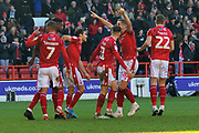 GOAL - Lewis Grabban celebrates scoring Forest's third   during the EFL Sky Bet Championship match between Nottingham Forest and Luton Town at the City Ground, Nottingham, England on 19 January 2020.
