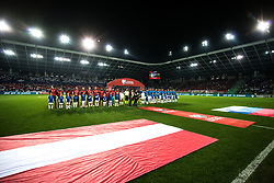 Opening ceremony of the 2020 UEFA European Championships group G qualifying match between Slovenia and Austria at SRC Stozice on October 13, 2019 in Ljubljana, Slovenia. Photo by Peter Podobnik / Sportida