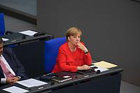 DEU, Deutschland, Germany, Berlin, 05.09.2017: Bundeskanzlerin Dr. Angela Merkel (CDU) während einer Sitzung im Deutschen Bundestag.