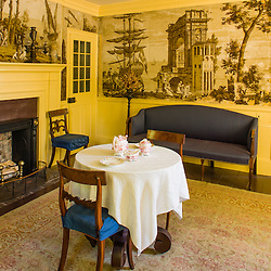 A parlor at the Frankiln Pierce Homestead in Hillsborough, New Hampshire.