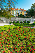 Estate and flowers on the promenade, Old Town Zadar, Dalmatian Coast, Croatia