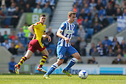 Brighton striker (on loan from Manchester United), James Wilson (21) during the Sky Bet Championship match between Brighton and Hove Albion and Burnley at the American Express Community Stadium, Brighton and Hove, England on 2 April 2016. Photo by Phil Duncan.