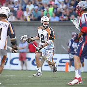 Dave Lawson #2 of the Rochester Rattlers controls the ball during the game at Harvard Stadium on August 9, 2014 in Boston, Massachusetts. (Photo by Elan Kawesch)