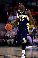 26 November 2005: Marquette guard, Wesley Matthews (23) in the Marquette Golden Eagle 92-89 overtime victory over the University of South Carolina Gamecocks to win the championship at the Great Alaska Shootout in Anchorage, Alaska