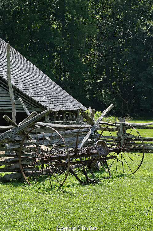 Mountain Farm museum,Oconaluftee,Great Smoky Mountains, North Carolina.