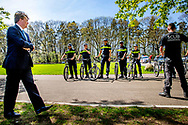 APELDOORN - King Willem-Alexander makes a working visit to the Police Academy for a brief introduction to educational practice. copyrght robin utrecht