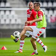 ALKMAAR - 26-06-2016, eerste training AZ, AFAS Stadion, AZ speler Mats Seuntjens (r), AZ speler Ron Vlaar.